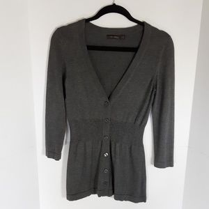 The Limited charcoal gray cardigan. Size small